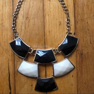 Jewelry - Boutique | Black and White Statement Necklace